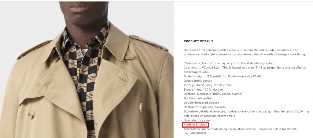 Is Burberry Made In The UK