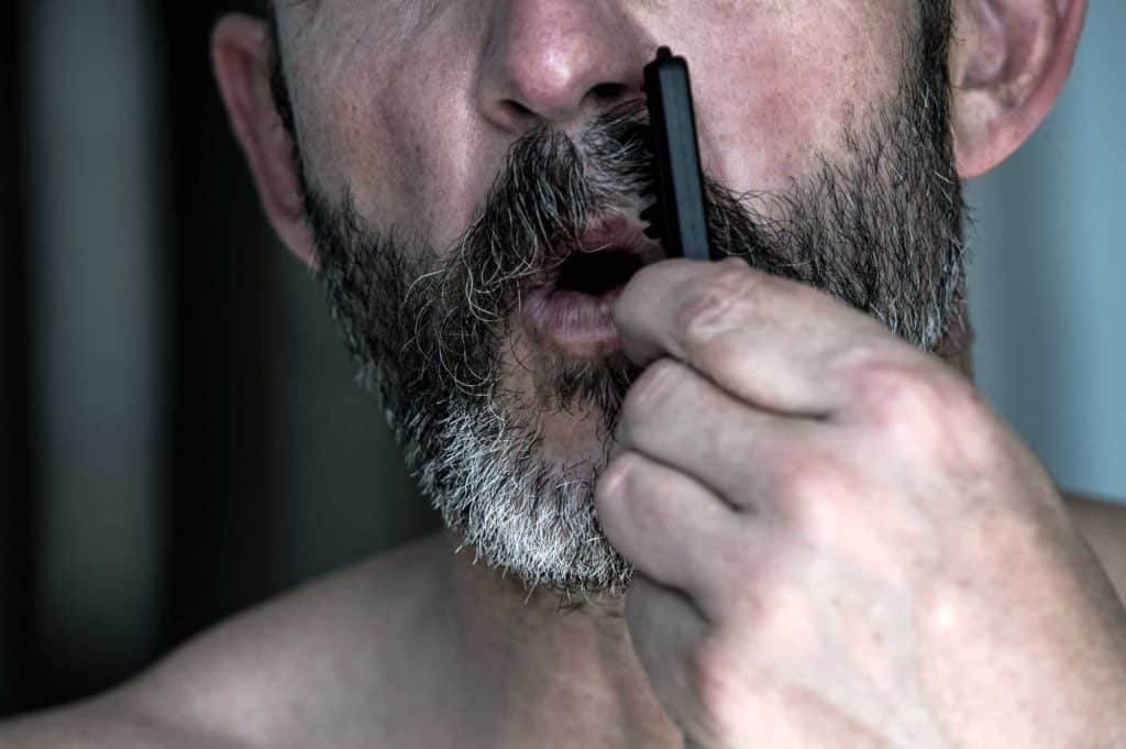 how to brush your mustache