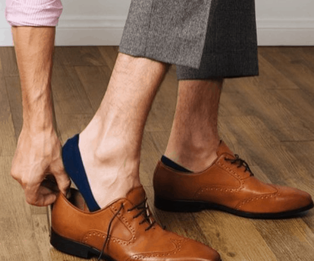how to keep no show socks from slipping off heel