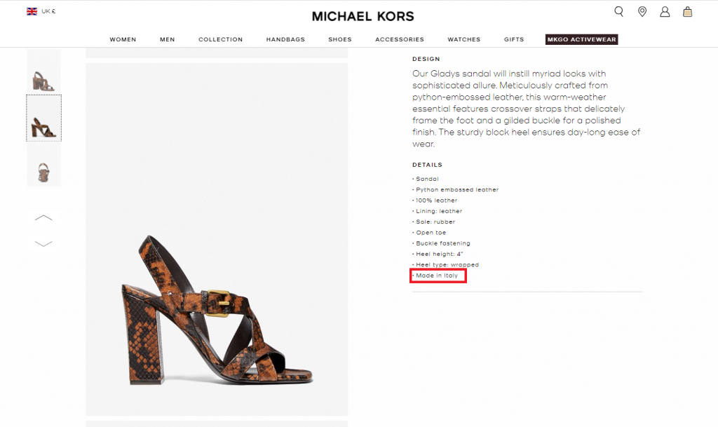 Is Michael Kors Made In Italy