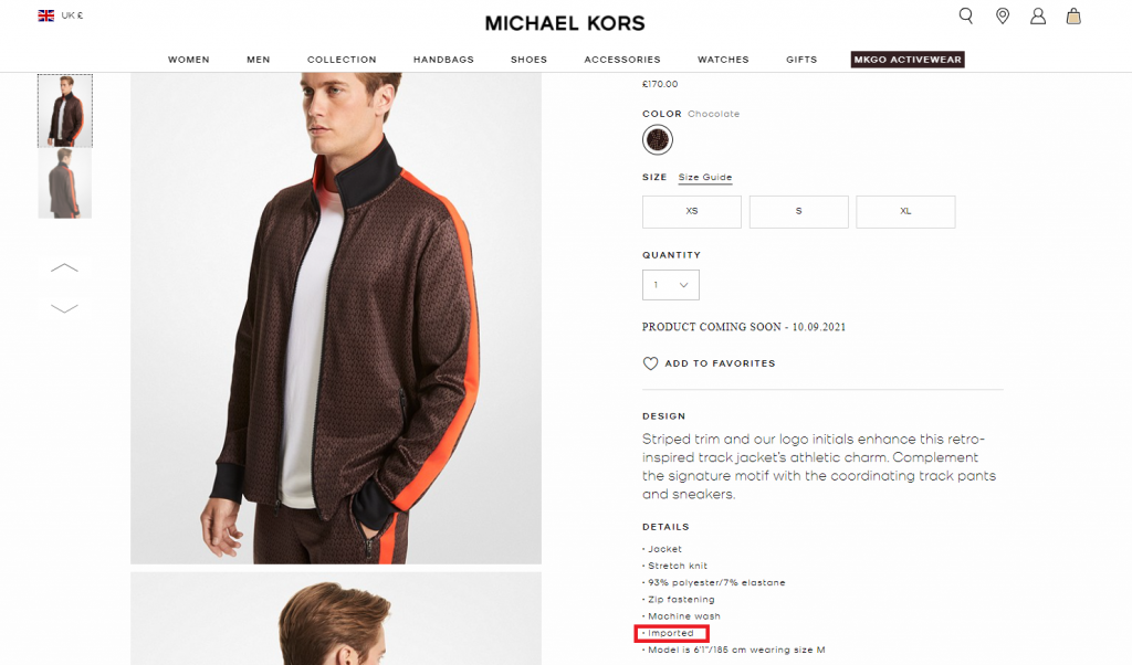 Is Michael Kors Made In The US