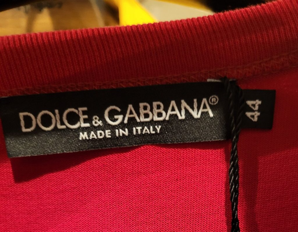 Where is dolce and gabbana manufactured