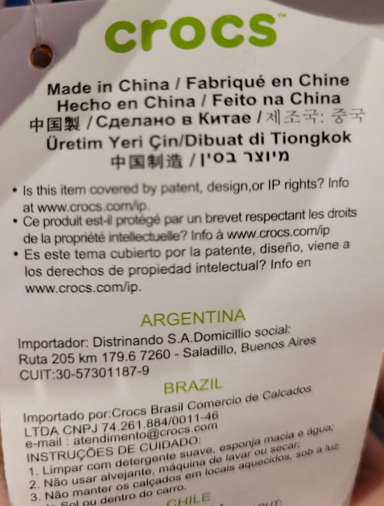 Are Crocs Made In China
