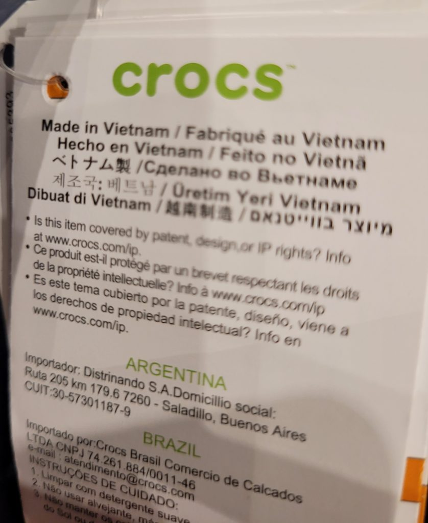 Are Crocs Made In Vietnam